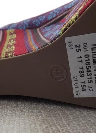 Туфли текстиль танкетка  cable 26 стелька4 фото
