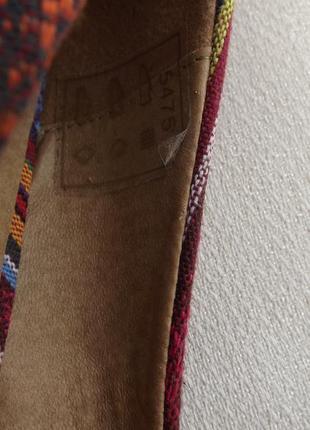 Туфли текстиль танкетка  cable 26 стелька6 фото