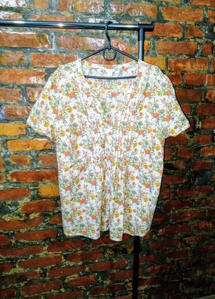 Хлопковая блуза кофточка из коттона monsoon