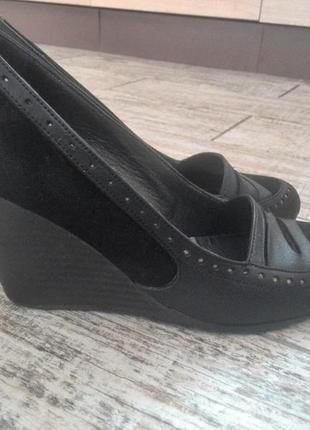 #туфли танкетка#туфли черные#туфли кожа#37#