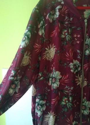 Летняя куртка бомбер цветочный принт от george6 фото