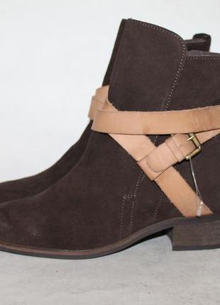Стильные замшевые ботинки на низком ходу andre 36 размер