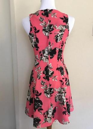 H&m цветочное мини платье, р.xs-s2 фото