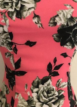 H&m цветочное мини платье, р.xs-s3 фото