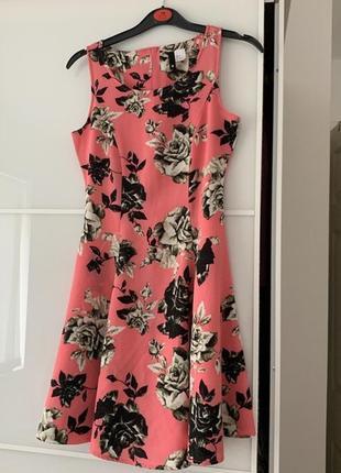 H&m цветочное мини платье, р.xs-s4 фото