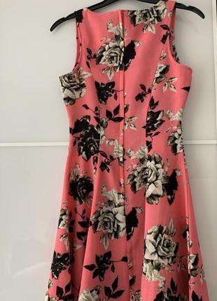 H&m цветочное мини платье, р.xs-s6 фото