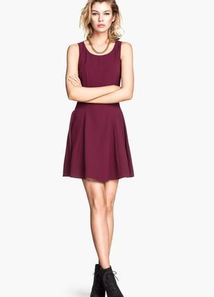 H&m цветочное мини платье, р.xs-s8 фото