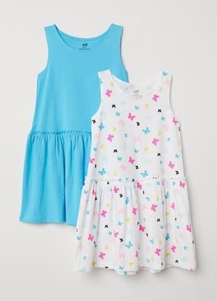 Платье сарафан h&m англия легкий летний для девочки