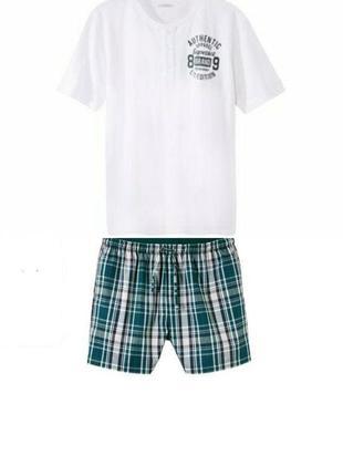 Шикарный летний комплект, мужская пижама домашний костюм livergy германия, футболка шорты