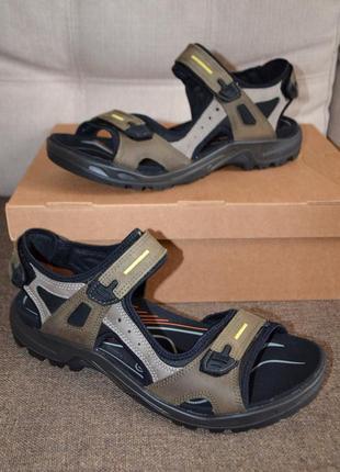 Кожаные спортивные сандалии босоножки ecco yucatan