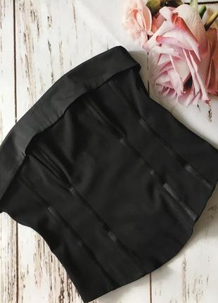Классный корсет с силиконовым косточками, плотная ткань, h&m