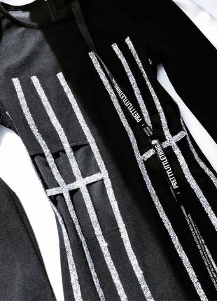 Роскошное блестящее премиум  платье с вырезами талии серебристое prettylittlething xs 63 фото
