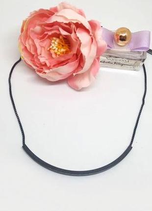 """Колье-цепочка """"дуга"""" в стиле минимализм  с гематитовым покрытием дания pilgrim"""