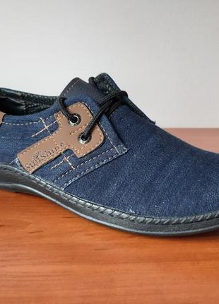 Мужские джинсовые туфли кроссовки