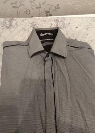 Рубашка серая с длинным рукавом