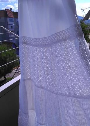Крутая ажурная юбка в пол 100% прошва.4 фото