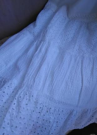 Крутая ажурная юбка в пол 100% прошва.5 фото