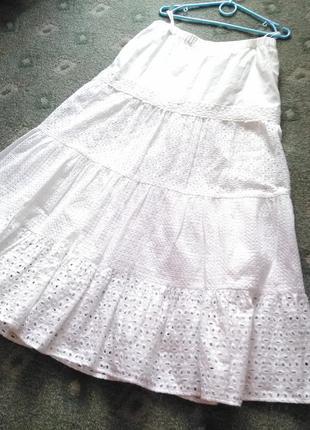 Крутая ажурная юбка в пол 100% прошва.7 фото