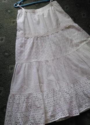 Крутая ажурная юбка в пол 100% прошва.8 фото