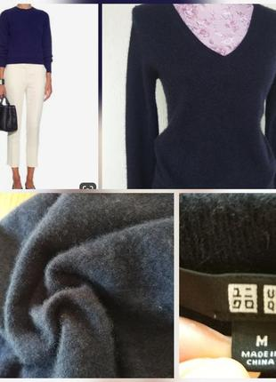 Фирменный стильный качественный натуральный кашемировый свитер.