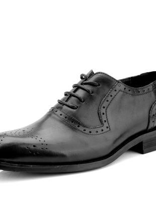 Туфли мужские кожаные черные goodyear caiverbany