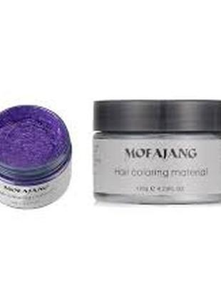 Окрашивающий воск для волос фиолетовый1 фото