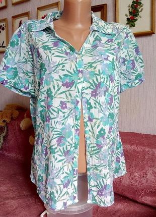Весняна акція! коттон 100%: блузка marks & spencer classic  р.14