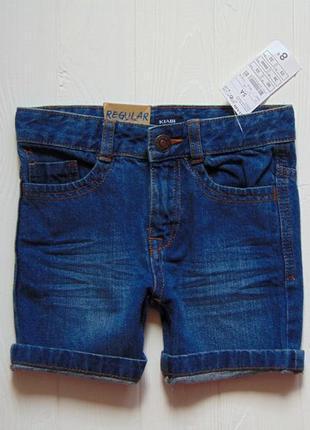 Kiabi. размер 5 лет. новые стильные джинсовые шорты для мальчика