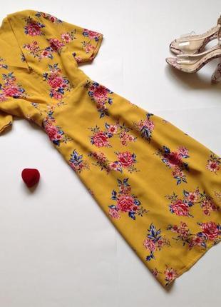 Платье рубашка миди с цветочным принтом papaya