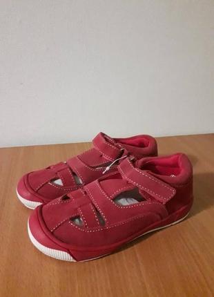 Босоножки сандали туфли кожаные на липучке с супинатором impidimpi 27р