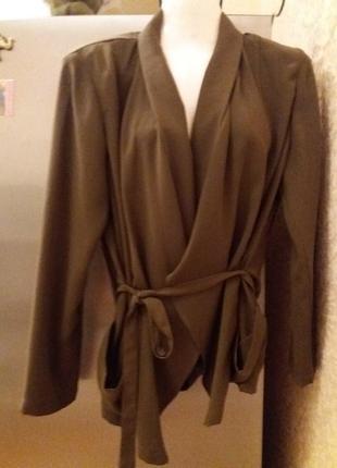 Стильный пиджак -блуза на запах-бренд- н.м-12-14р