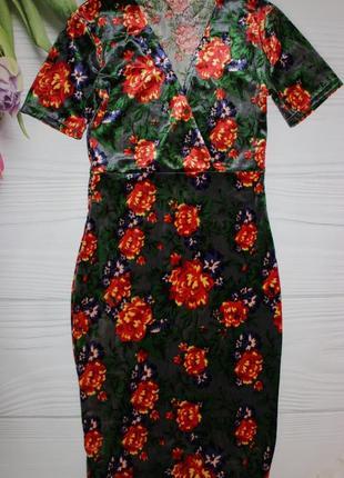 Шикарное велюровое платье zara s