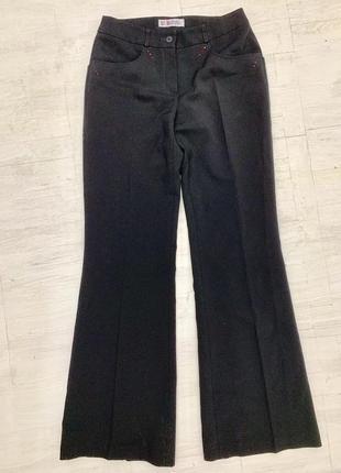 Крутые брюки-палаццо со стразиками