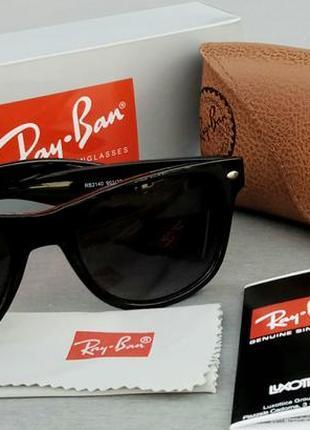 Ray ban wayfarer очки мужские солнцезащитные черные