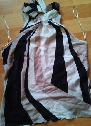 Блузка-principles-с лентами14-16р--                  100% шелк
