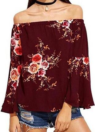 Блуза с цветочным принтом