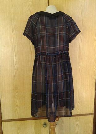 Крапдешиновое платье - туника, xl .3 фото