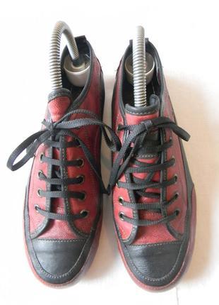 Кожаные туфли -мокасины от roberto santi р.36