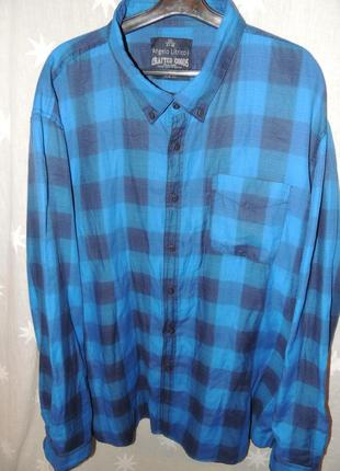 Очень качественная стильная рубашка urbndist аngelo litrico 3хл 47-48