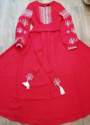 Вышиванка платье длинное в пол