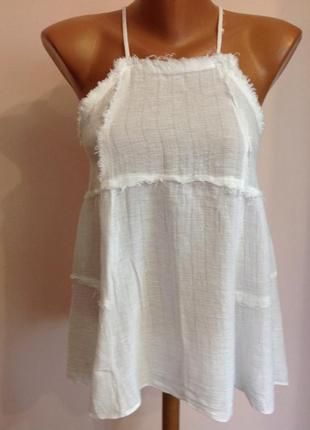 Фирменная легкая блуза- топик с открытой спинкой. /xs/ brend zara