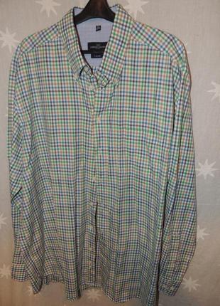 Очень качественная стильная рубашка lorenzo calvino milano хл 43-44