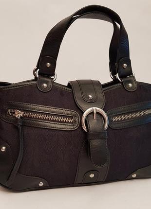 Интересная красивая сумка tula текстиль+кожа англия