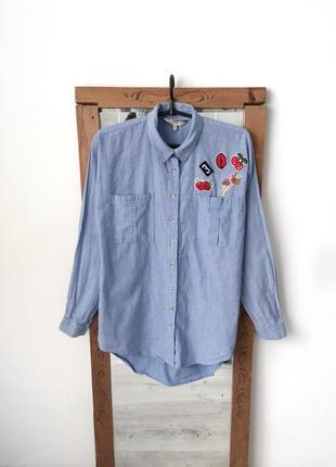e14f511a214 Женские рубашки с нашивками 2019 - купить недорого вещи в интернет ...