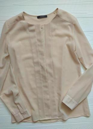 Актуальная шифоновая блуза/рубашка от esprit.размер s,m