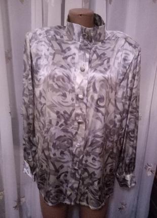 Шелковая,блузка с разводами