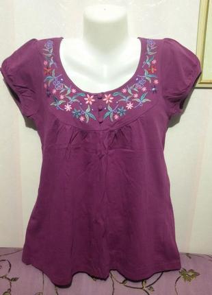 Блуза с вышивкой (пог 45 см )