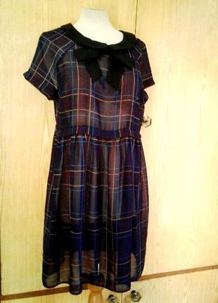 Крапдешиновое платье - туника, xl .1 фото