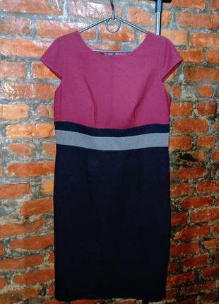 Платье чехол футляр из костюмной ткани marks & spencer