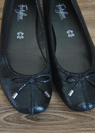 Кожаные балетки footglove / шкіряні балетки